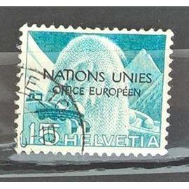 Suisse, timbre-poste de service Y & T n° 298 oblitéré techniques et paysages, 1950