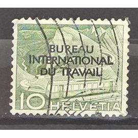 Suisse, timbre-poste de service Y & T n° 317 oblitéré techniques et paysages, 1955