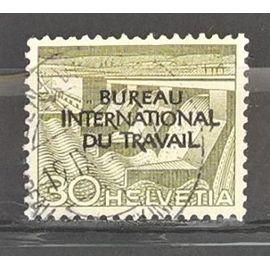 Suisse, timbre-poste de service Y & T n° 321 oblitéré techniques et paysages, 1955