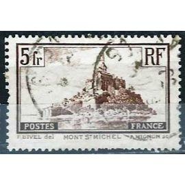 france 1929 / 1930, bel exemplaire yvert 260, type I, mont saint michel, oblitéré, TBE