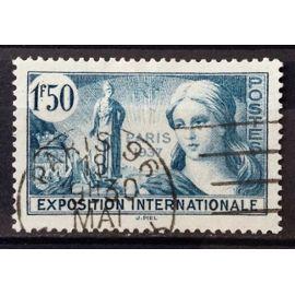 France - Exposition Internationale Paris 1937 1f50 Bleu-Vert (Superbe n° 336) Très Belle Oblitération - N11921