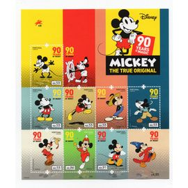 Portugal Disney Mickey Mouse 90 Ans MNH Neuf Bloc-Feuillet
