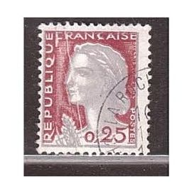 Timbre France Marianne Decaris 0,25 cts 1960