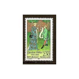 Timbre Neuf 2708 De 1991-6ème Centenaire De La Mort De Gaston Fébus.