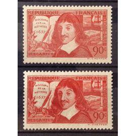 Série Descartes 1937 Complète - N° 341-342 Neufs* - Cote 9,30€ - N21990
