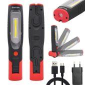 Cob Batterie Torche Fil Baladeuse Sans 3w Et 2200mah Lampe Deux Rechargeable Aimantée Lumieres Puissante Led Inspection 3Jl1FcTK