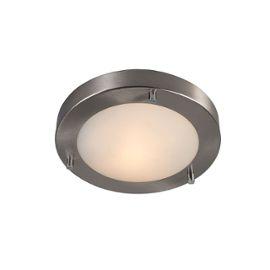 Salle de bain Lampe exterieure Plafonnier Yuma 18 acier Design IP44 Rond