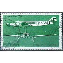 france 1987, bel exemplaire de poste aérienne yvert 60, avion dewoitine 338, oblitéré, TBE