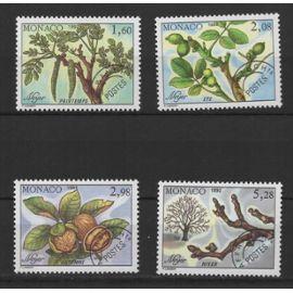 Monaco, timbres-poste préoblitérés Y & T n° 110 à 113 les quatre saisons du noyer, 1992