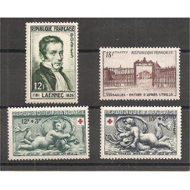 936 à 939 (1952) Laënnec / Croix-Rouge / Versailles N** (cote 16,5e) (1974)