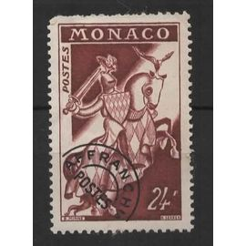 Monaco, timbre-poste préoblitéré Y & T n° 14 chevalier, 1954