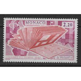 Monaco, timbre-poste Y & T n° 1577 journée du timbre, album de timbre, 1987
