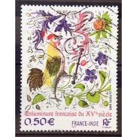 France-Inde - Enluminure Française XVème Siècle 0,50€ (Très Joli n° 3629) Obl - France Année 2003 - N22287