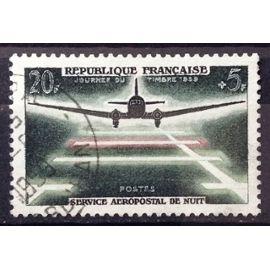 Service Aéropostal de Nuit 20f+5f (Très Joli n° 1196) Oblitération Très Légère / Propre - France Année 1959 - N22567