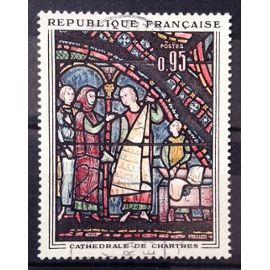 Vitrail Cathédrale de Chartres - 0,95 (Superbe n° 1399) Oblitération Très Légère / Propre - France Année 1963 - N22450