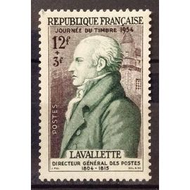 Journée Timbre 1954 - Lavalette 12f+3f (Très Joli n° 969) Neuf* - Cote 3,00€ - France Année 1954 - N22664