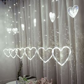 LED en forme de coeur suspendu Rideau Guirlandes Net Noël Accueil Party  Home Decor A