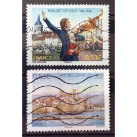 Rouget de Lisle 0,53€ (N° 3939) + Antibes Juan-Les-Pins 0,53€ (N° 3940) Obl - France Année 2006 - N22773