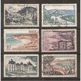 976 à 981 (1954) Série touristique oblitérée (cote 2,5e) (5058)