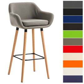 Industriel Accoudoir Dossier Et Confortable Scandinave Bar Design Chaise Avec Tabouret De Grant Clp Similicuir Haute AR4j3L5
