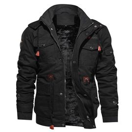 Cargo Blouson de Hiver Homme en Coton ? Capuche Chaud Doublee Polaire Veste Homme Hiver Fashion