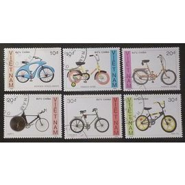 vietnam lot de 6 timbres de 1988 bicyclettes