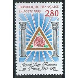 50ème anniversaire de la grande loge féminine de France. 1995 n° 2967
