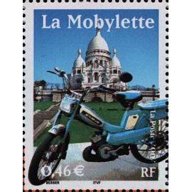 France 2002, le siècle au fil du timbre, transports, très bel exemplaire neuf** luxe yvert 3472, la mobylette.
