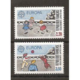 2584 - 2585 (1989) Série Europa N** (cote 5e) (5436)