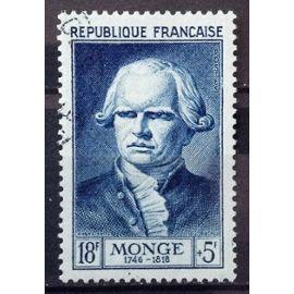 Célébrités 1953 - XII au XXème Siècle - Gaspard Monge 18f+5f Bleu (Superbe n° 948) Obl - Cote 13,50€ - France Année 1953 - N23191