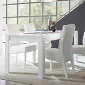 Sandrea Table Blanc Manger Salle À Design Laqué wPONnX08kZ