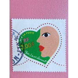Timbre France YT 3296 - Saint-Valentin - Cœur Yves Saint-Laurent - 2000