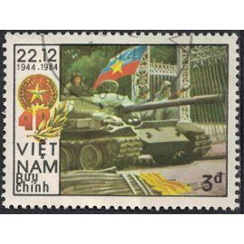 Vietnam 1984 Oblitéré Used Armée Char Combat Prise du Palais Indépendant