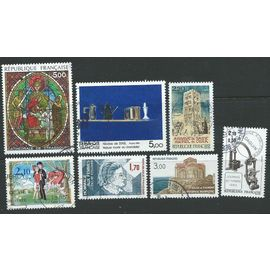 Lot 7 timbres France oblitérés année 1985 N° 2351 2352 2354 2361 2362 2363 2364