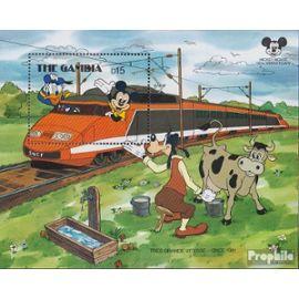 Gambia block42 (complète.Edition.) neuf avec gomme originale 1987 60 Années Micky Maus bandes dessinées