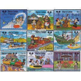 sierra leone sierra-léonais 1056-1064 (complète.Edition.) neuf avec gomme originale 1987 60 Années Mickey Maus bandes dessinées