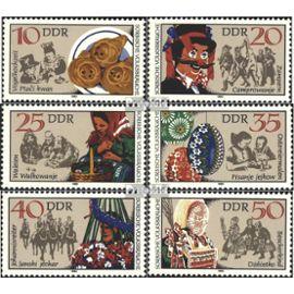 DDR 2716-2721 (complète.édition) oblitéré 1982 langue sorabe m¿urs Uniformes / costumes