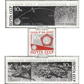 union soviétique 3296-3298 (complète.Edition.) oblitéré 1966 doux lune de luna 9 L¿espace