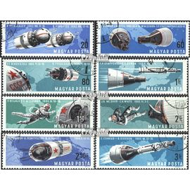 Hongrie 2299A-2306A (complète.Edition.) oblitéré 1966 habités mondiale de l