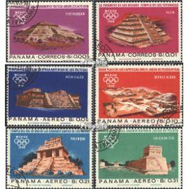 panama 974-979 (complète.Edition.) oblitéré 1967 altmexikanische lieux de culte jeux olympiques