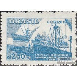 brésil 942 (complète.Edition.) neuf avec gomme originale 1958 Reconstruction le la flotte vie de marin