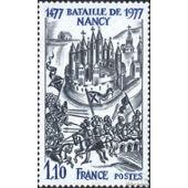 compl/ète.Edition. Timbres pour les collectionneurs militaire 1977 bataille de nancy France 2038