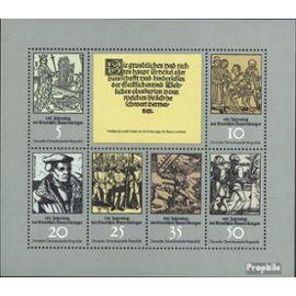 DDR 2013-2018 Feuille miniature (complète.édition) neuf avec gomme originale 1975 bauer guerre militaire