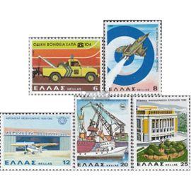 Grèce 1433,1434,1435,1436,1437 (complète.édition) neuf avec gomme originale 1980 StrUnßenwUncht, forces Unériennes u.Un. militaire