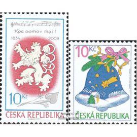 république tchèque 609,617 (complète.Edition.) neuf avec gomme originale 2009 hymne Noël