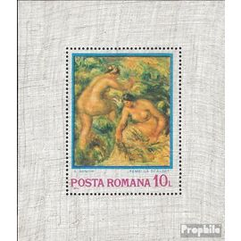 Roumanie Bloc 110 (complète.Edition.) oblitéré 1974 impressionnisme peinture