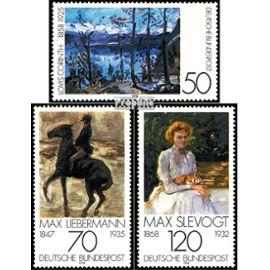 RFA (FR.Allemagne) 986-988 (complète.Edition.) timbres prémier jour 1978 impressionnisme peinture