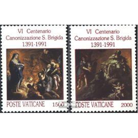 Vatican 1038-1039 (complète.édition) oblitéré 1991 canonisation Christianisme