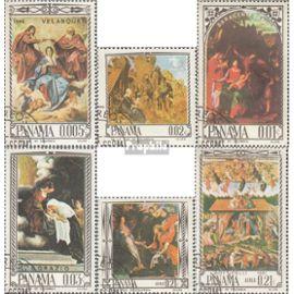 panama 917-922 (complète.Edition.) oblitéré 1966 religieuses Peintures Christianisme