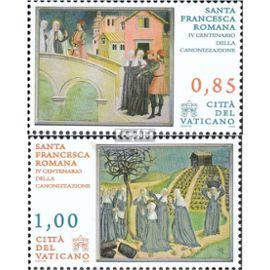 Vatican 1640-1641 (complète.Edition.) oblitéré 2009 canonisation franziska de rome Christianisme